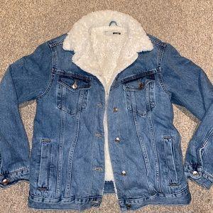Topshop fur lined Jean jacket